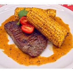 250g Flank steak naložený ve steakovémkoření a pepři, kukuřičný klas NOVINKA