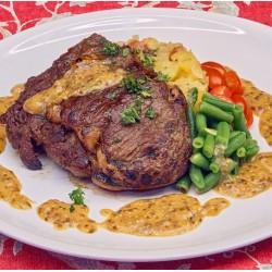 300g RIB EYE steak s omáčkou z hrubozrné hořčice NOVINKA