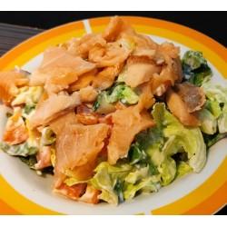 """350g """"Dionýsos"""" zeleninový salát s uzeným lososem  NOVINKA"""