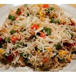 Denní menu č.  6 - 150g Šťavnaté kuřecí vykostěné stehno přelité nivovou omáčkou, jasmínová rýže / vařené brambory